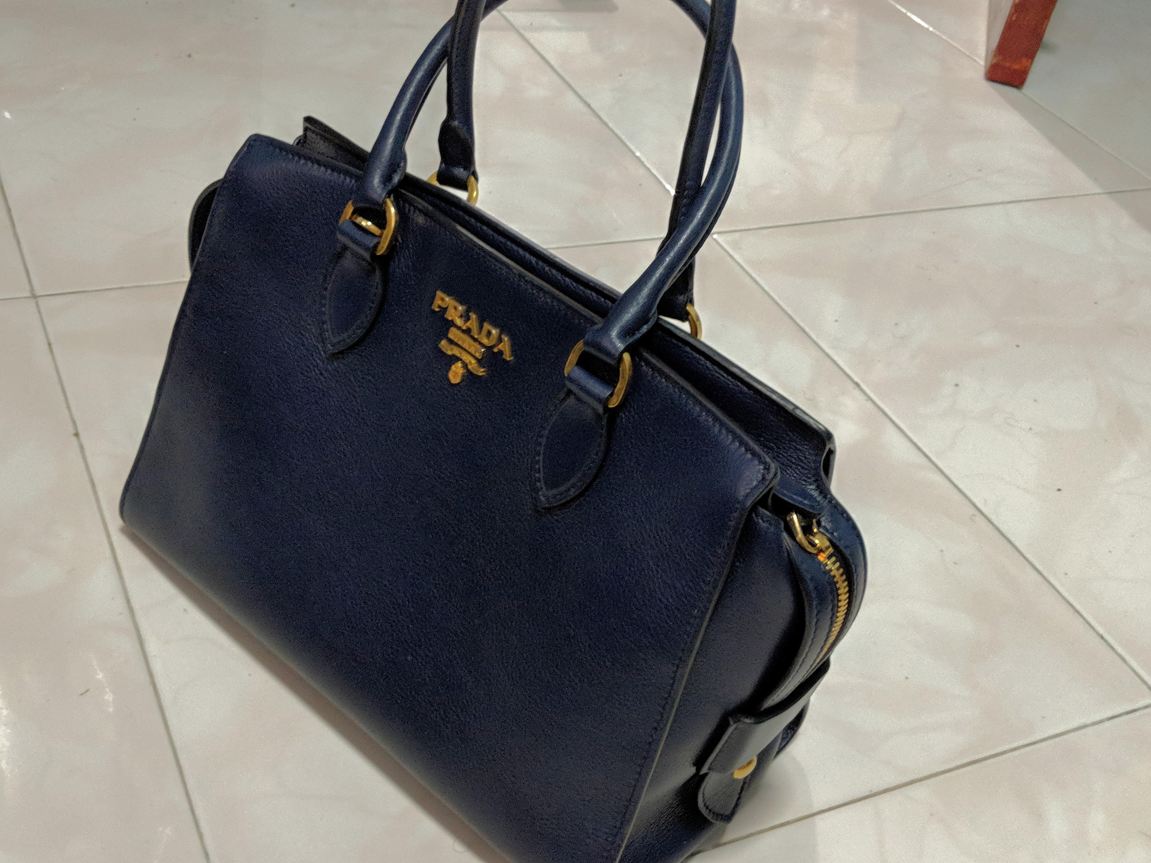 8477d91f3aac Prada Women's Handbag (Baltico/Glace'Calf) From Milan, Women's Fashion, Bags  & Wallets, Handbags on Carousell