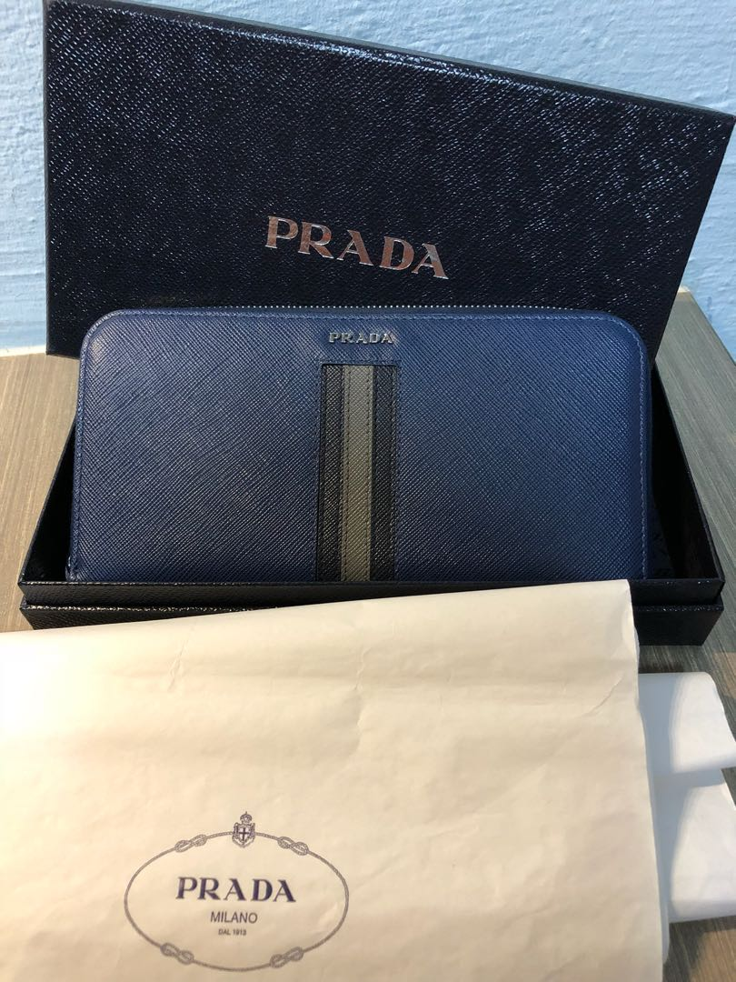 5f17312e6eff Prada Zippy Wallet, Luxury, Bags & Wallets, Wallets on Carousell