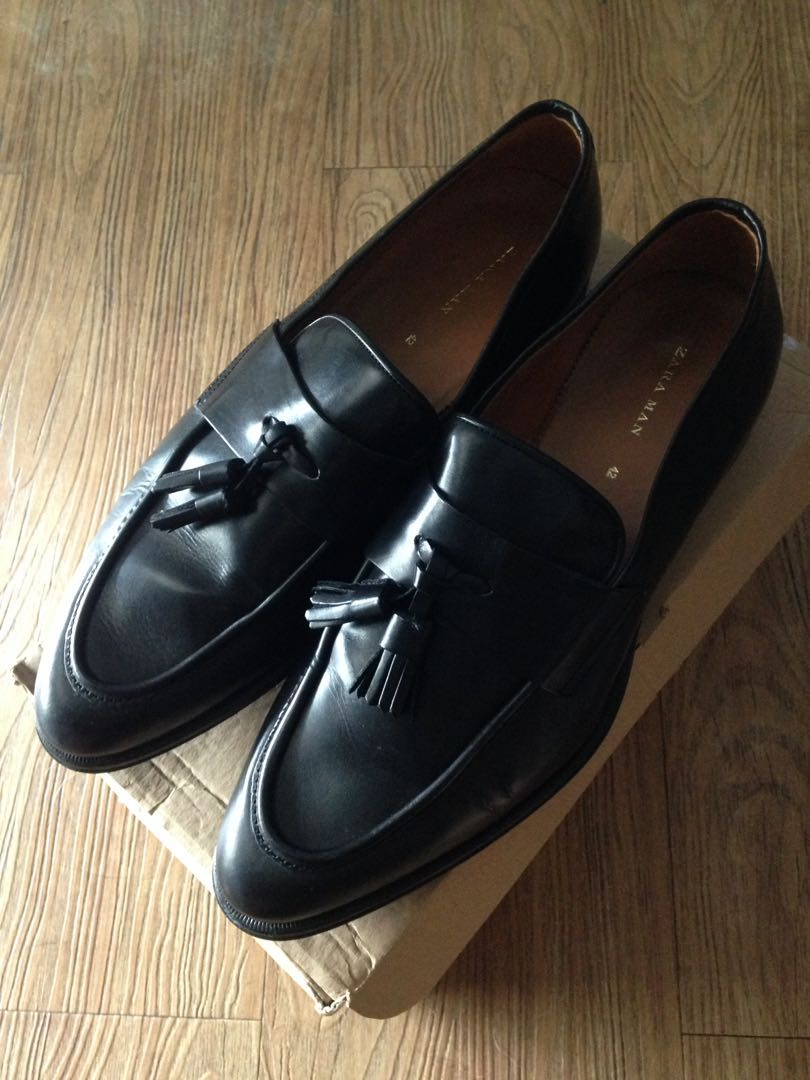 4e8c3a0484c Preloved zara mens formal leather loafers