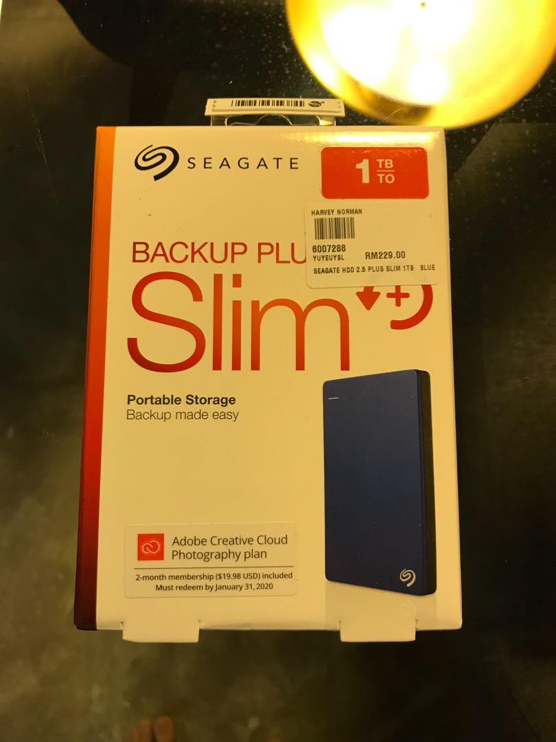 Seagate Backup Plus Slim 1tb External Hard Disk Drive Electronics 2tb Hdd Hd Hardisk Harddisk Computer Parts Accessories On Carousell