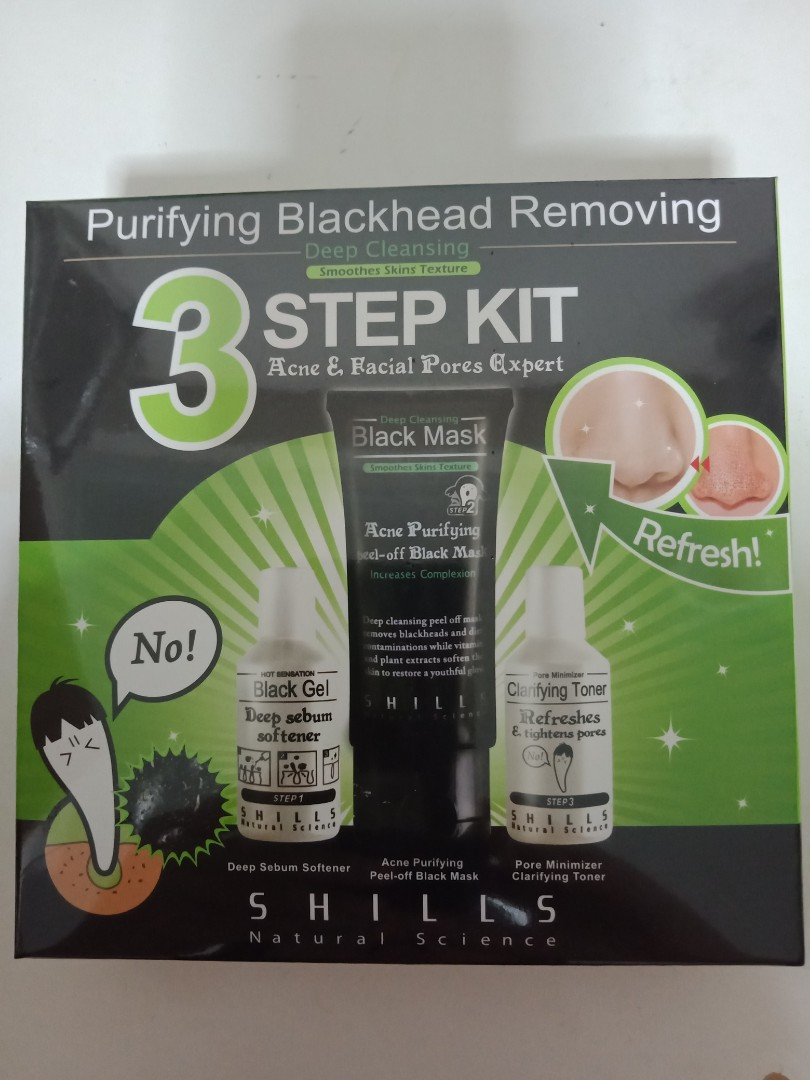 Shills Purifying Peel Off Black Mask Kit Health Beauty Face Skin Care On Carousell