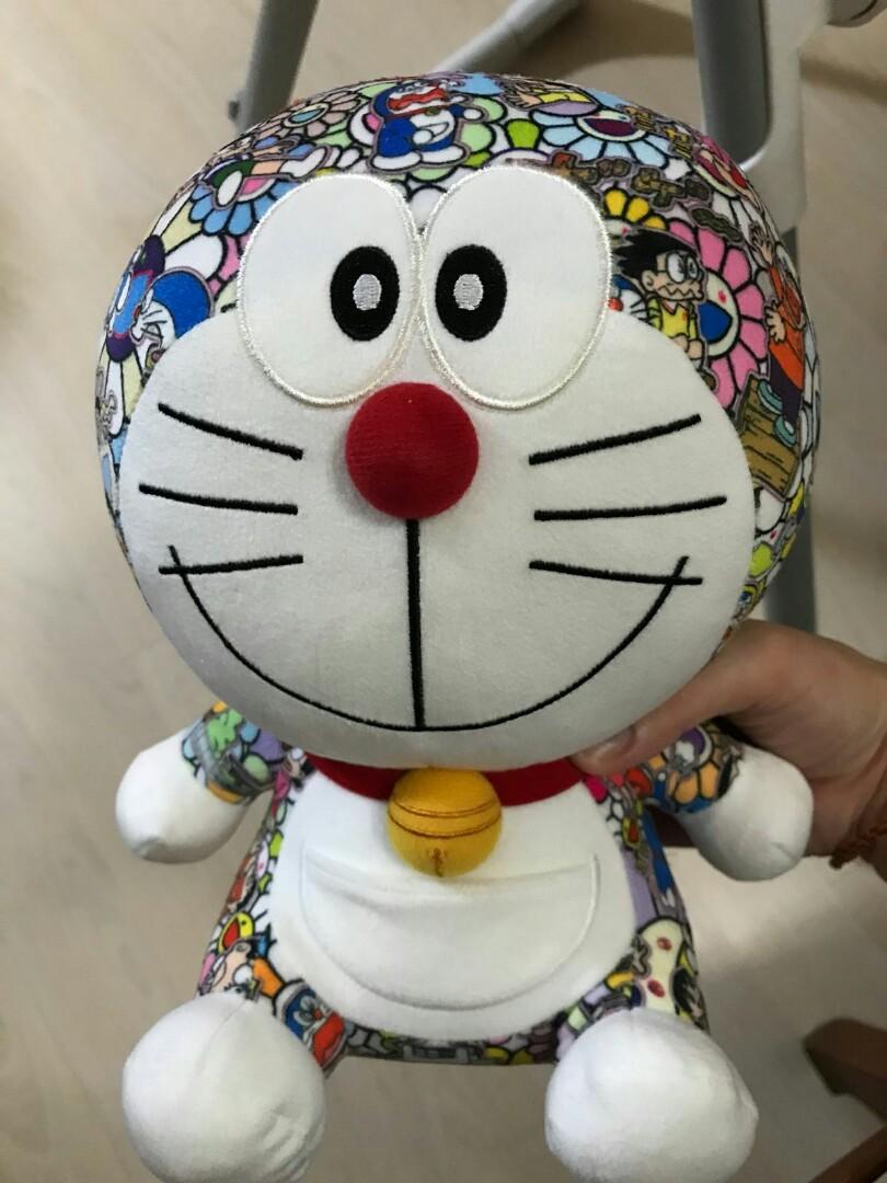 Authentic Doraemon x Takashi Murakami x Uniqlo Plush Doll Toy NEW With tags