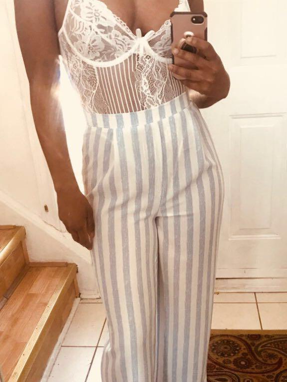 Black / White Lace Bodysuit