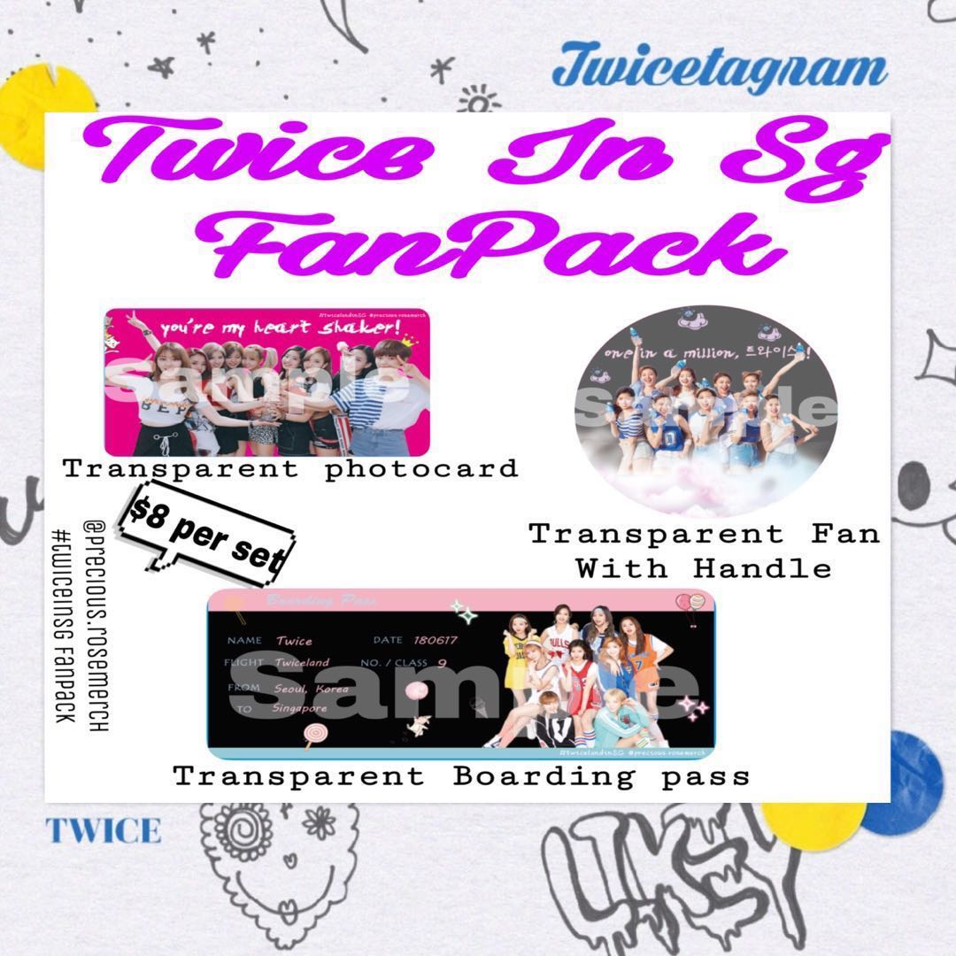 TwiceinSG Twiceland 2 Fan Pack Entertainment K Wave On Carousell