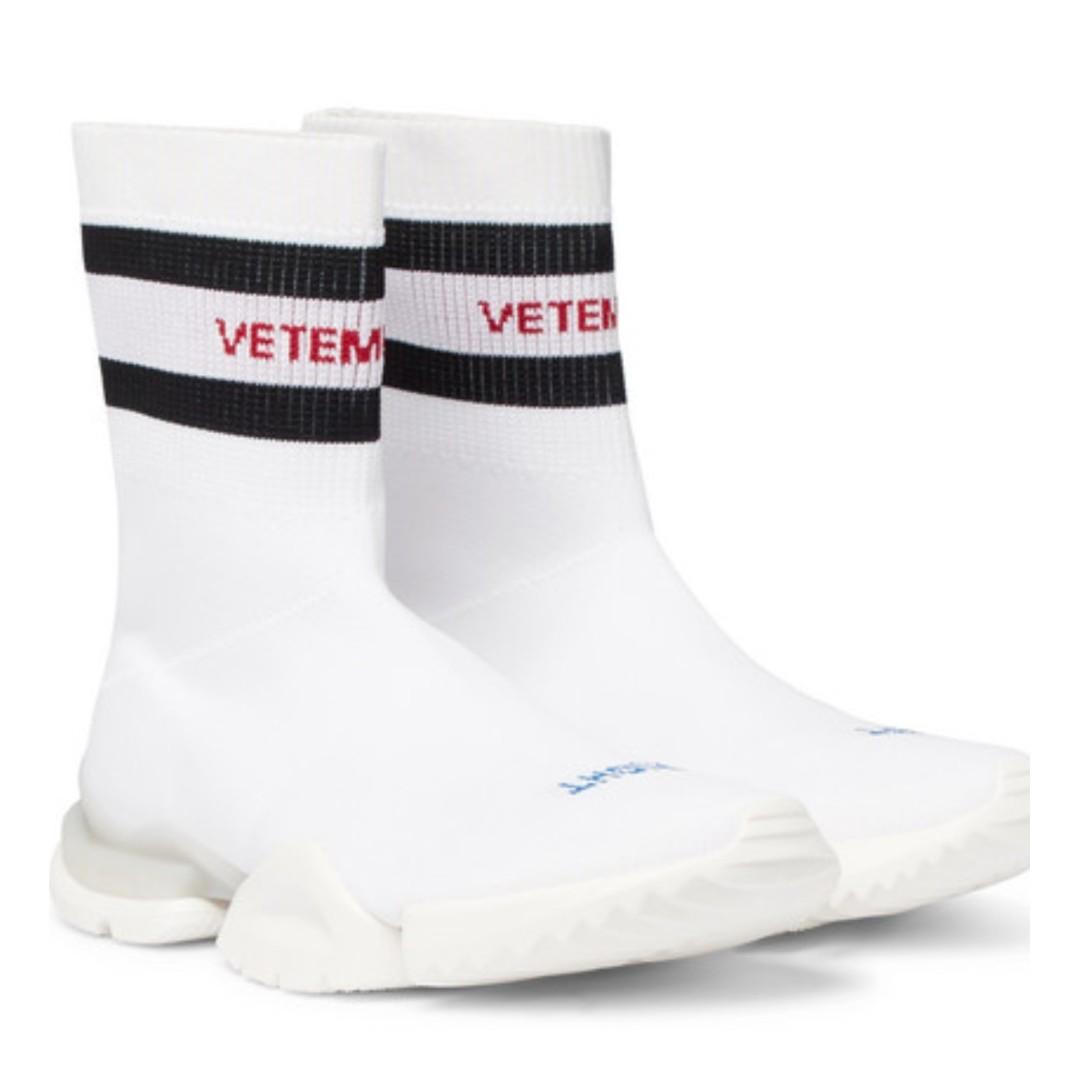 625897be4ff44 VETEMENTS + Reebok Sock Pump Stretch-Knit Sneakers