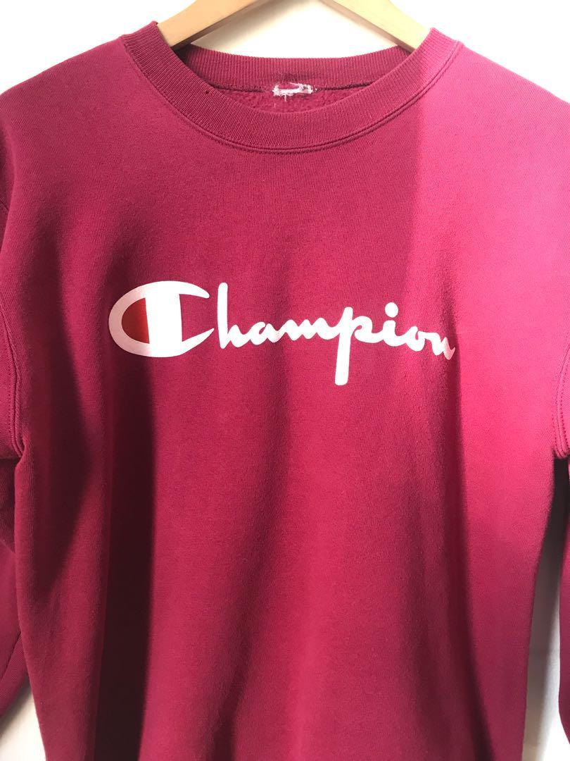 Vintage Champion sweatshirt in wine