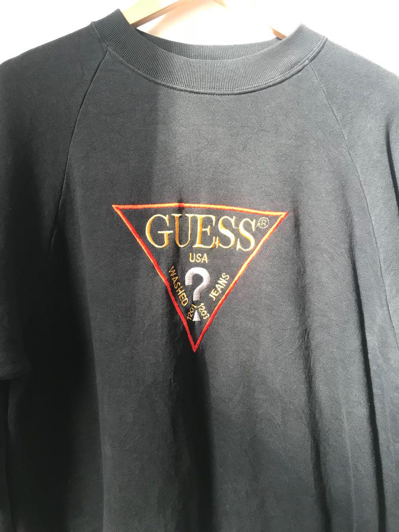 Vintage Embroidery GUESS sweatshirt in black