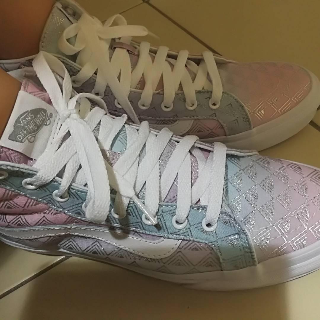e54d52f351 Wore once. Sk8 HI vans shoes boots sneaker premium rainbow slim ...