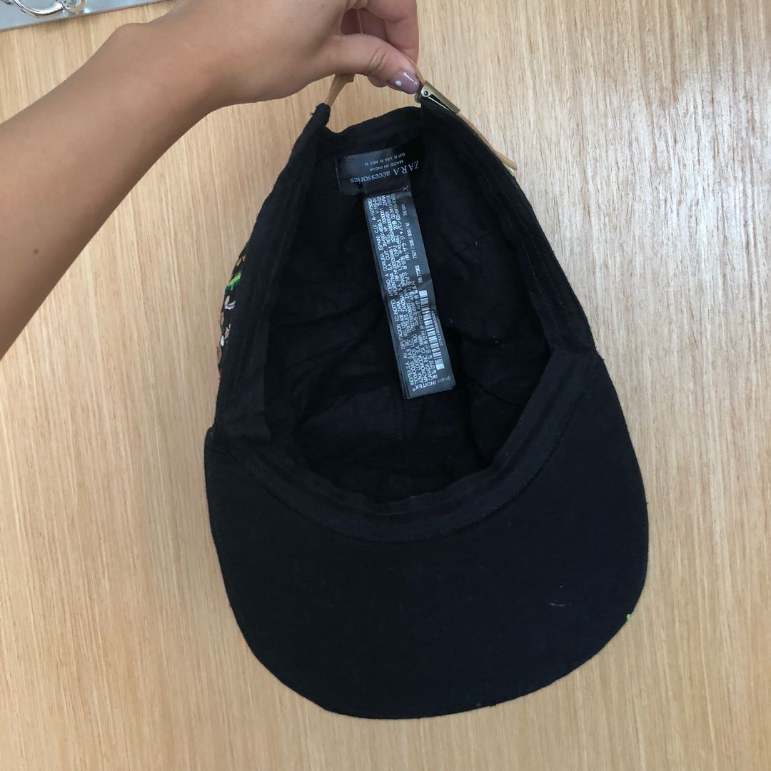 Zara embroidered floral cap eb23098be204