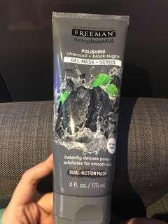 Freeman polishing charcoal + black sugar gel mask + scrub.
