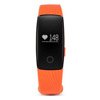 AC495 - 心率OLED智能手環防水運動健康活動健身追踪器BT腕帶計步器睡眠監視器(橙色)