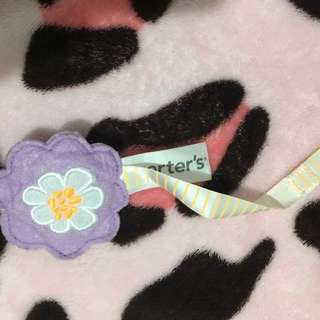 Authentic Carter's pacifier holder clip