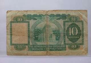滙豐銀行1983年十元紙幣一張