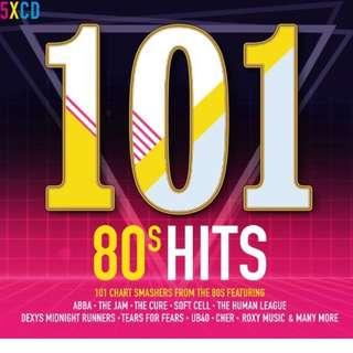 Pop CD - 101 80s Hits (5CD set, 101 songs)
