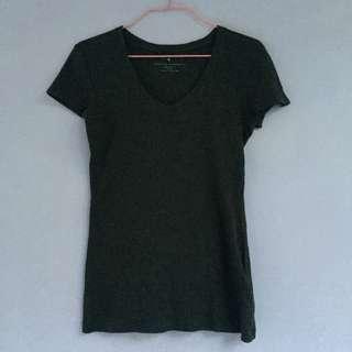 BANANA REPUBLIC Grey Tee/ V Top/ Basic T-Shirt