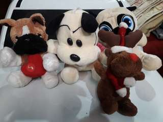 Assorted puppy stuff toys