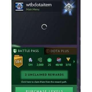 dota 2 steam account ti8 battlepass level csgo