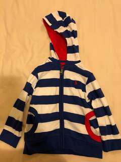 Joules signature striped jacket - size 18-24 mths