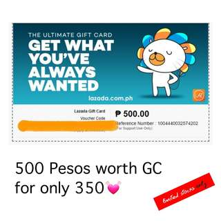 500 Pesos worth Lazada Gift Check