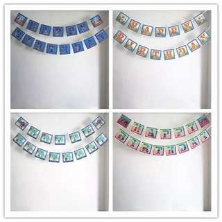 $6 per set of happy birthday bunting