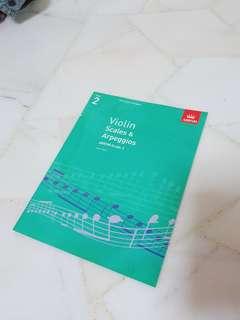 ABRSM Violin Scales & Apreggios Grade 2