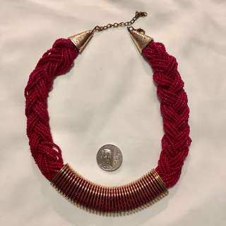 Necklace - Fuschia Choker