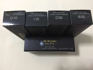 Cle de peau CDP CPB radiant cream foundation. o10, i10, o30, b20