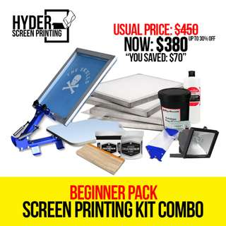 Silkscreen Printing - Beginner Pack Screen Printing Kit Combo