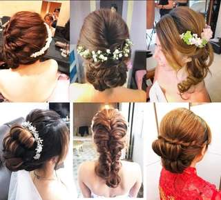 make up and hairdo service