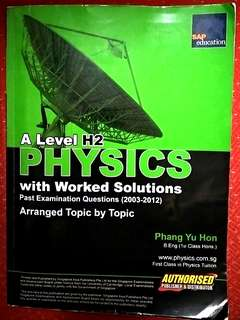 A level Ten Years Series TYS H2 Physics