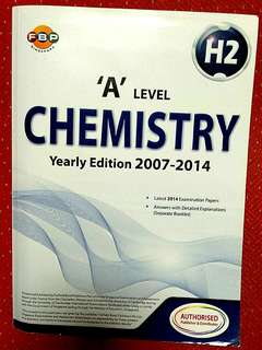 A level H2 Chemistry TYS Ten Years Series