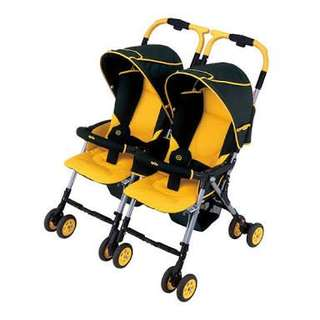 Aprica twin stroller for sale