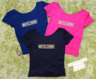 New! Moschino spandex blouse/ black only
