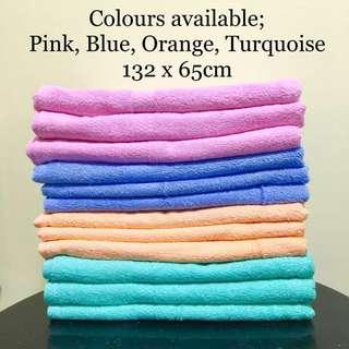 【BN】2 PIECES 100% Cotton Bath Towel 132 x 65 cm