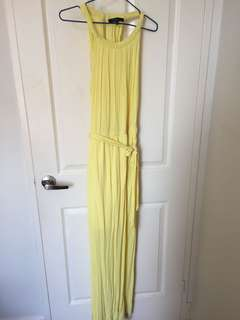 Dynamite Yellow Halter neck long summer dress  size small