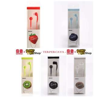 Japan Quality - Ear Phone Headset Fruit Color Miniso