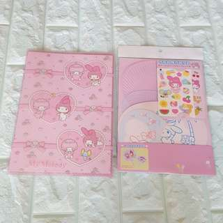 SAnrio My Melody Notebook, 扇子 DIY套装,全新
