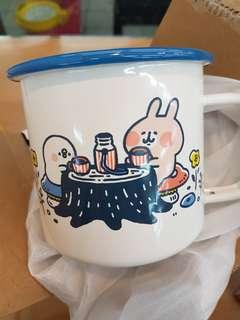 🚚 現貨白色野餐款  卡娜赫拉 琺瑯杯500ml   711