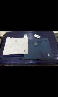 🚚 灰色*Polo素圓領T-shirt(男)
