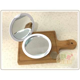 『胖豆雜貨舖』[全新] 素色 純白 化妝鏡 / 鏡子 / 隨身鏡
