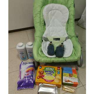 To bless baby food, rocker and more