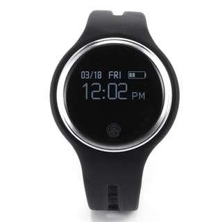 AC341 - E07智能手環防水運動健康活動健身追踪器BT Sync腕帶兼容Android / iOS智能手機(黑色)