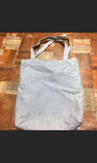 Grey tote bag 灰色 布袋