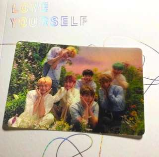 BTS Love Yourself Group Special Photocard