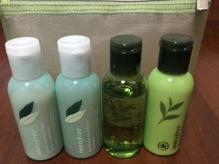 Innisfree Jeju Green Tea Body Travel Collection Set | Conditioner . Shampoo . Cleanser . Lotion