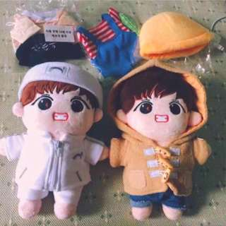 BTS TaeTae Baby Doll Set (2 Dolls + Clothes Set)