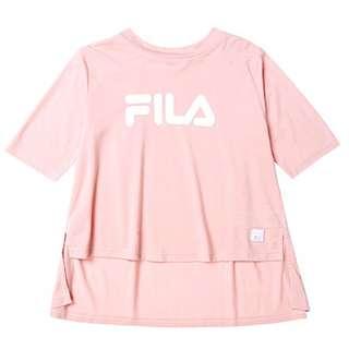 Fila Kids#東京企劃 女圓領T恤 藕粉