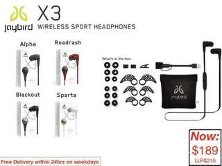 JayBird: X3 Wireless