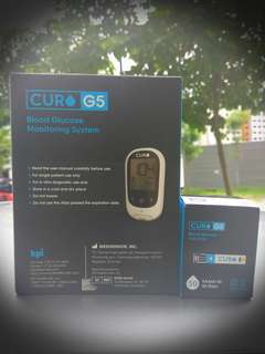 Curo G5 Blood Glucose Monitoring System (Test Kit). Hu KAAO4-50 (50 Test Strips).