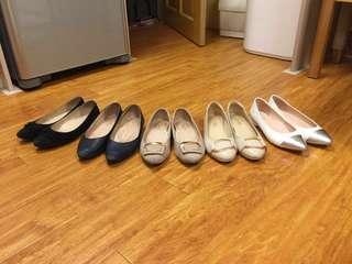Kokko粉杏色平底鞋21.5